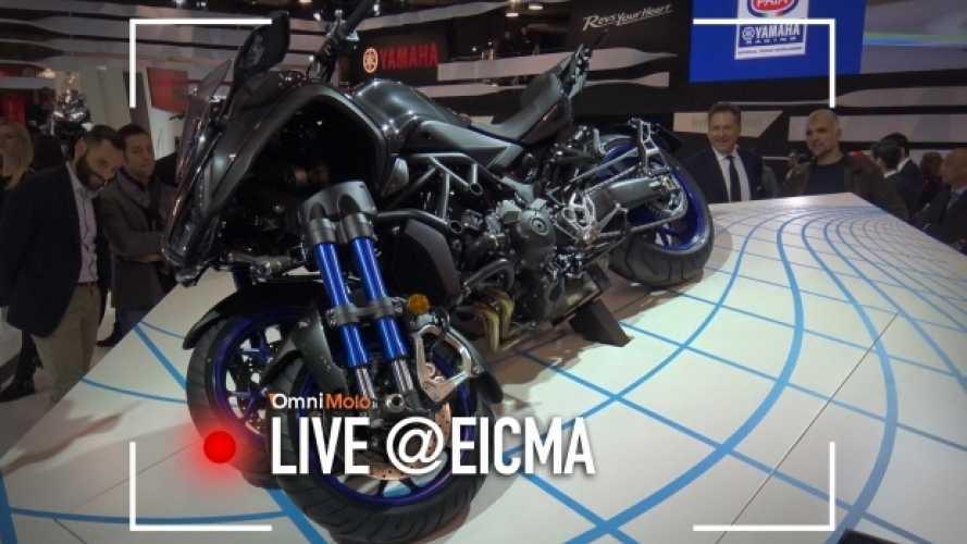 Yamaha Niken, la prima moto a tre ruote è a EICMA 2017 [VIDEO]