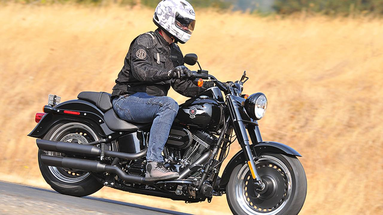 harley s fastest softails ever we ride the 2016 harley davidson softail slim s and fat boy s. Black Bedroom Furniture Sets. Home Design Ideas