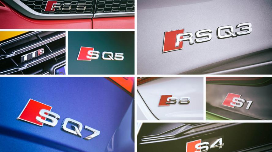 Alle S- und RS-Modelle von Audi