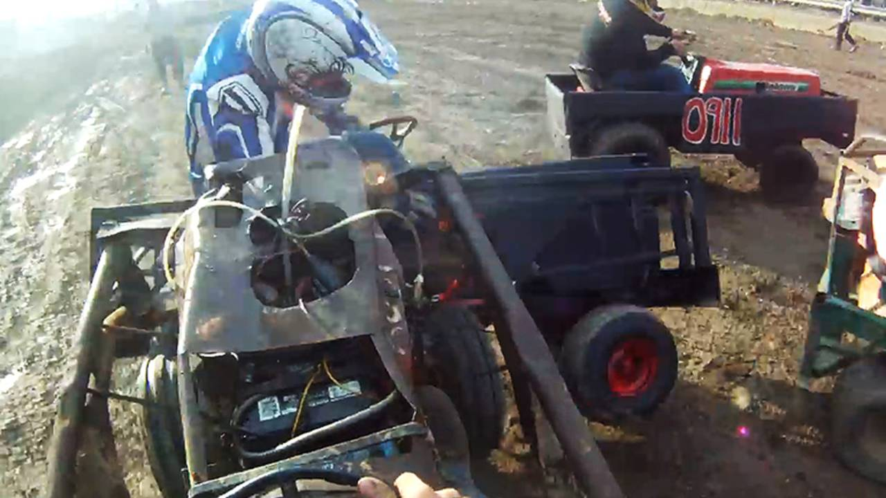 Lawn Mower Demolition Derby is the Most Terrifying Thing You'll See All Day