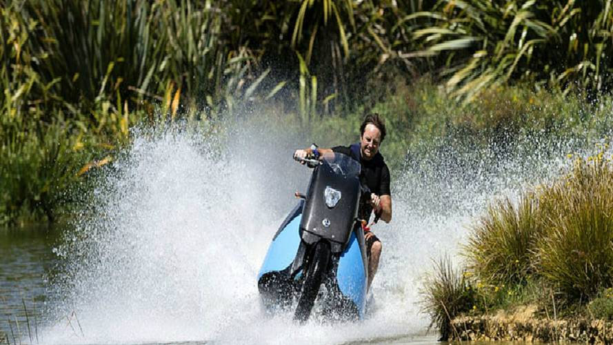 A Motorcycle JetSki? Sure, Why Not? The Gibbs Biski - Video