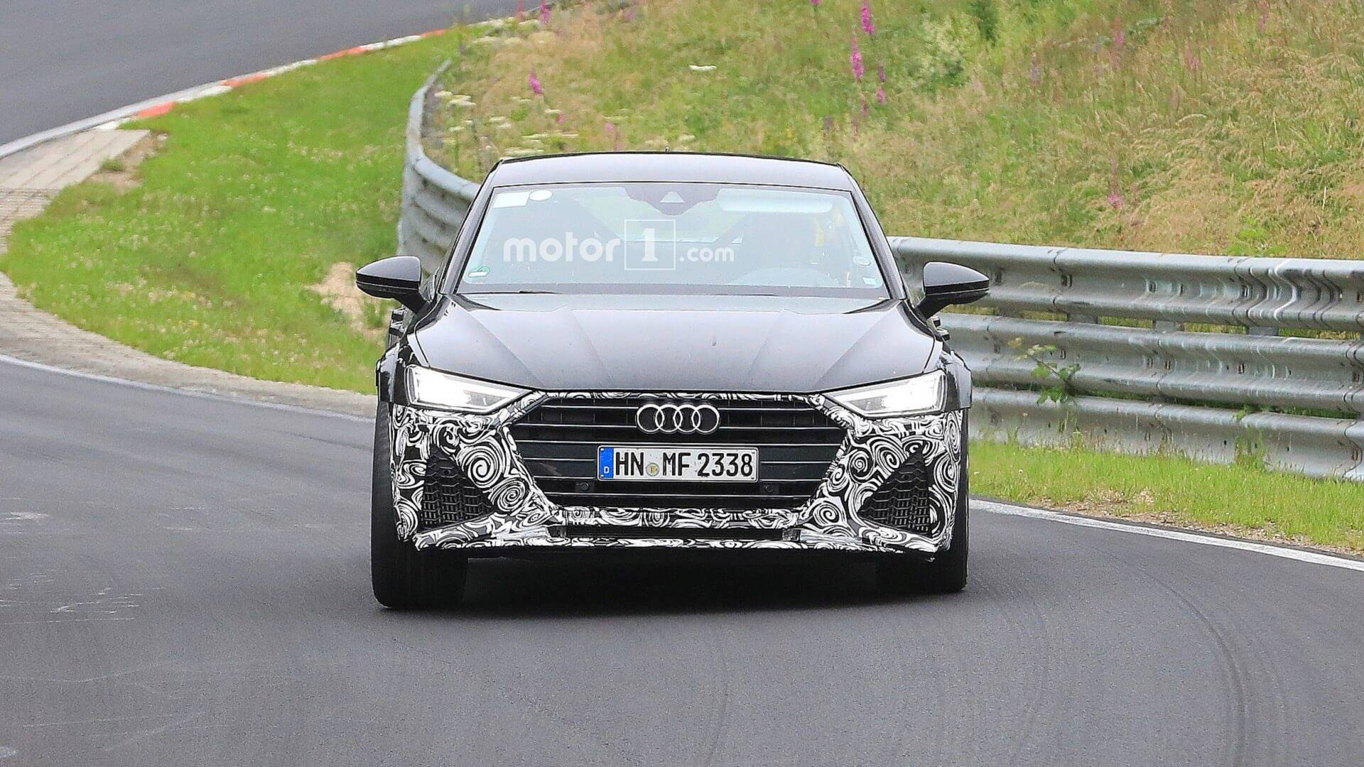 New Audi Rs7 Spied Going Fast Through The Nurburgring Corners