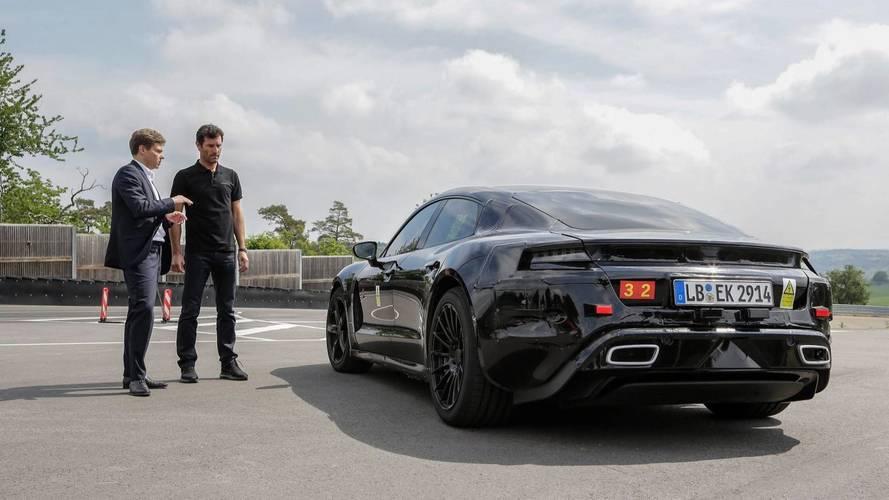 Mark Webber conduce el Porsche Mission E