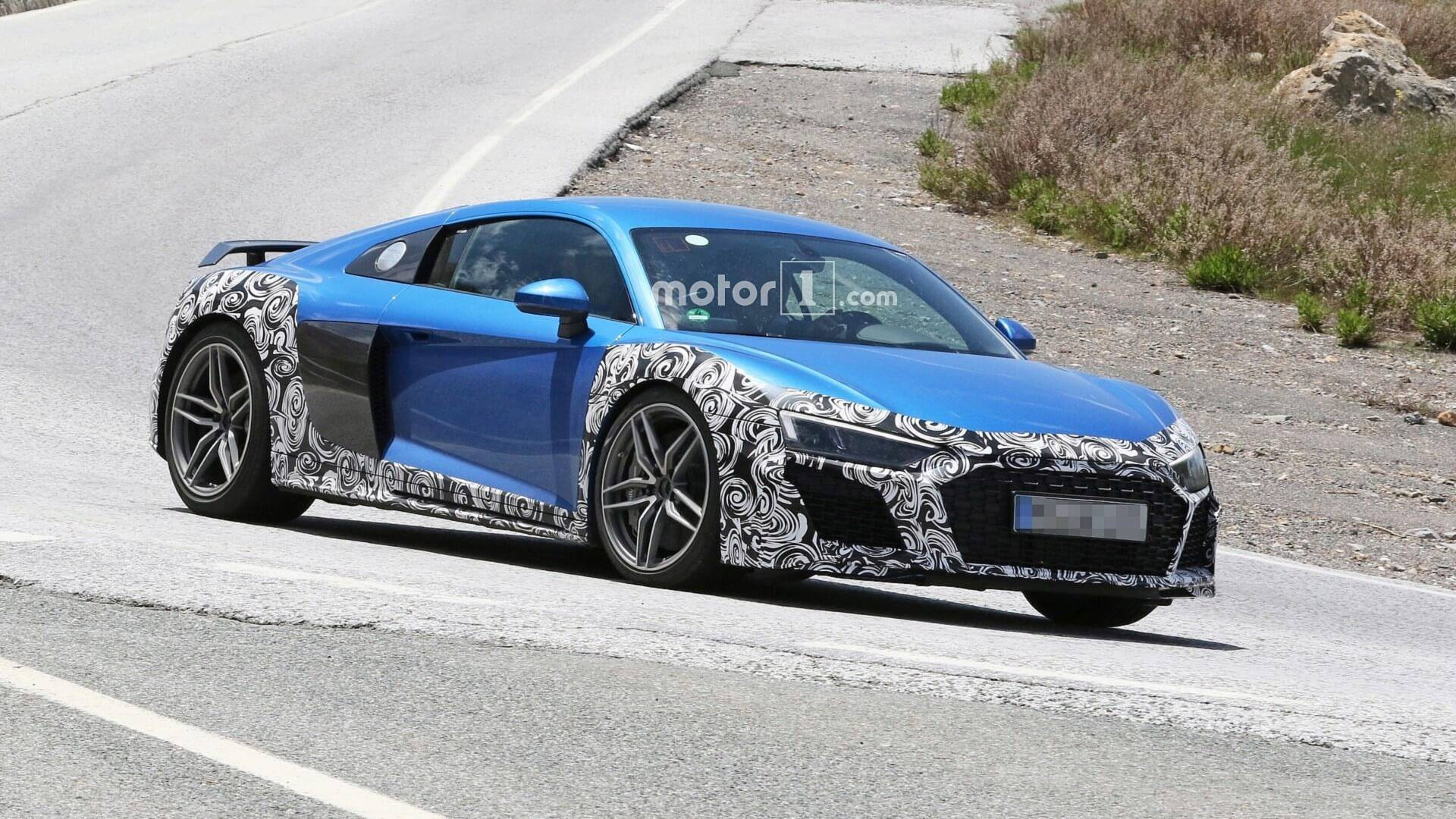 Audi R8 Spied With New Bumpers Oval Exhaust Tips Could Be Gt Model