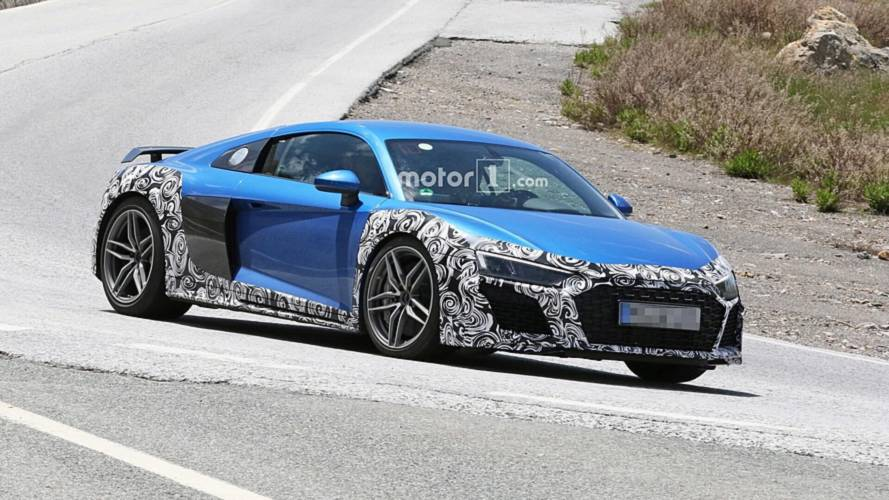 Audi R8 spied with new bumpers, oval exhausts could be GT model