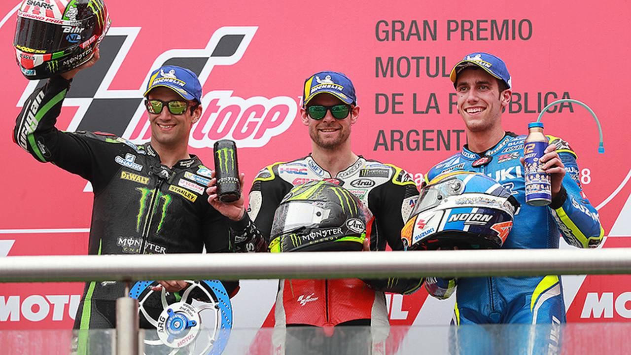 Argentina MotoGP: Crutchlow Wins Race, Marquez Hits Rossi