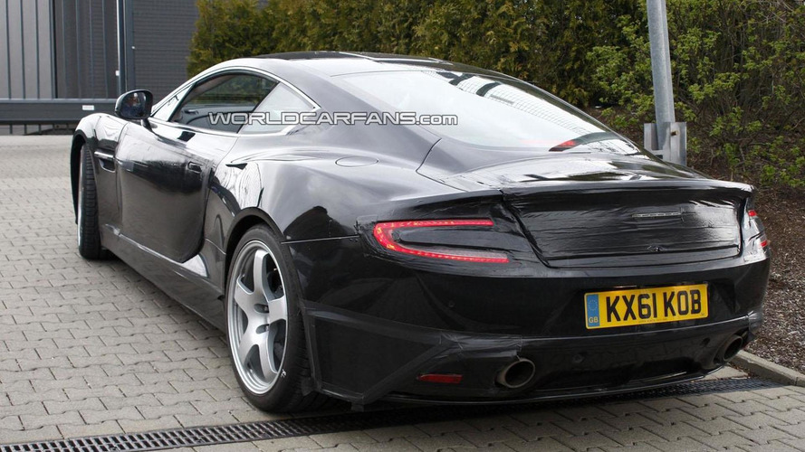 2013 Aston Martin DB9 successor spied with minimal camouflage