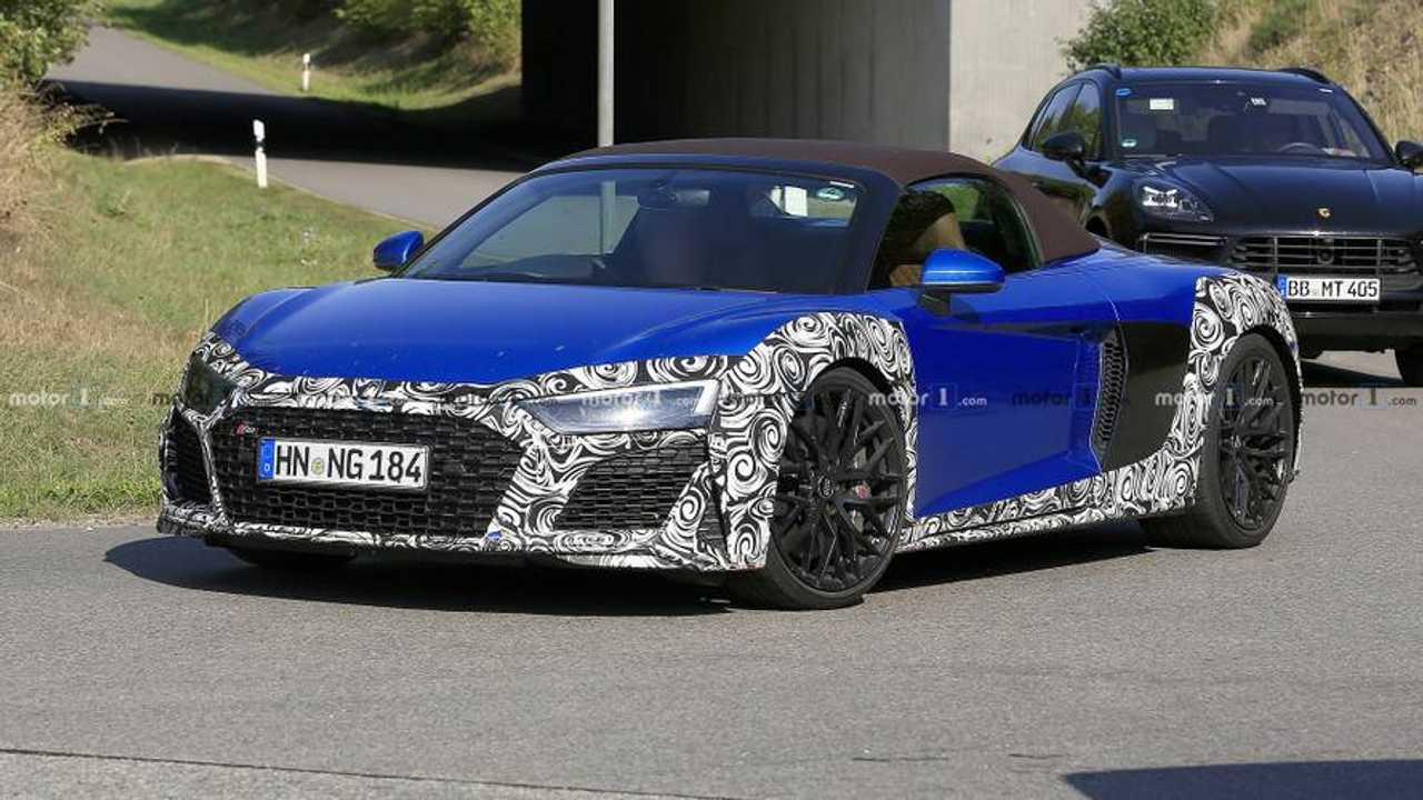 Audi R8 Spyder Facelift Erlkönig