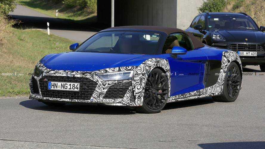 Audi R8 Spyder Facelift als Erlkönig erwischt