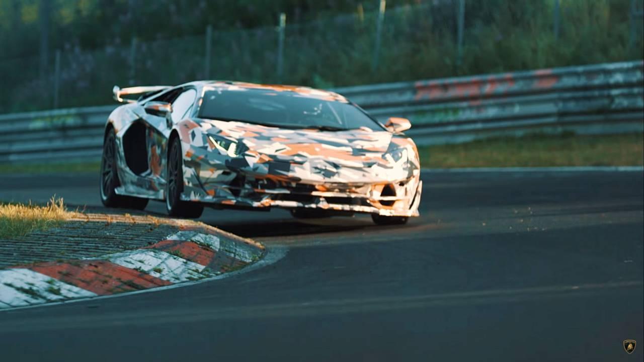 Lamborghini Aventador SVJ teaser