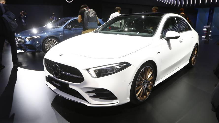 2019 Mercedes A-Class Sedan Looks Sexy Under The Paris Spotlights