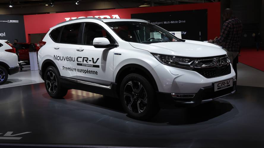 Production-ready Honda CR-V Hybrid debuts at Paris Motor Show