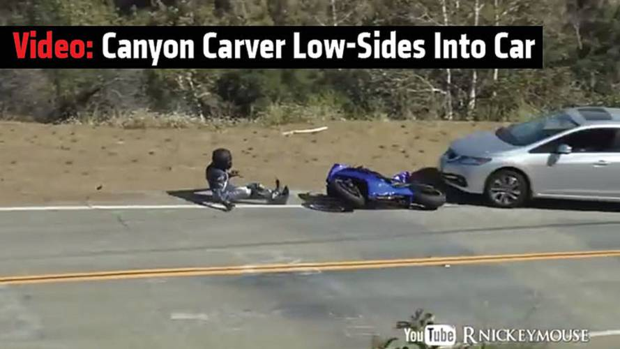 Video: Canyon Carver Low-Sides Into Car
