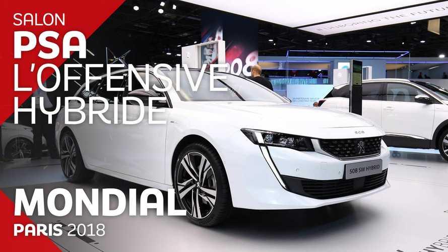 VIDÉO - Les nouveautés hybrides de PSA au rendez-vous du Mondial