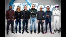 Sechs Moderatoren und ,The Stig