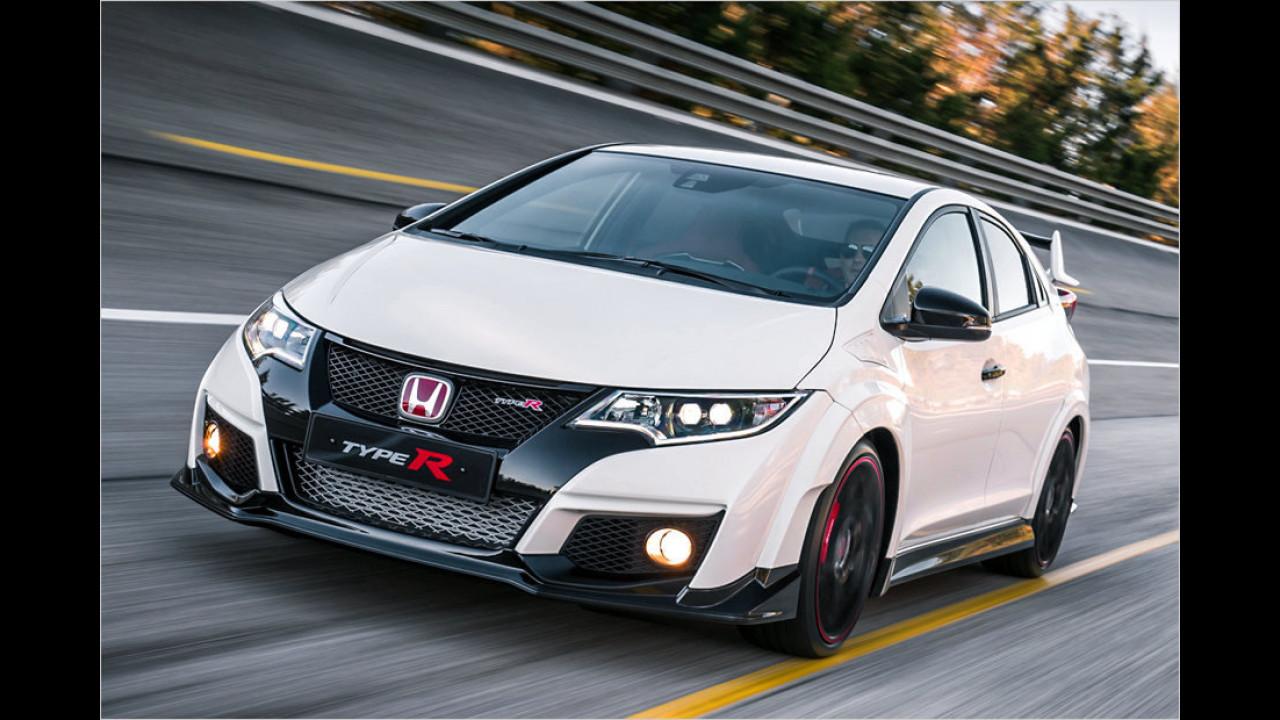 Honda Civic Type R: 7:50 Minuten (inoffiziell schnellster Fronttriebler)