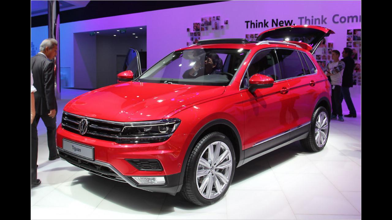 Sitzprobe im neuen VW Tiguan