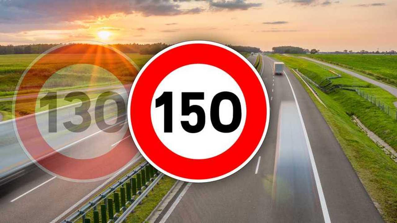 150 km/h, loi, autoroute