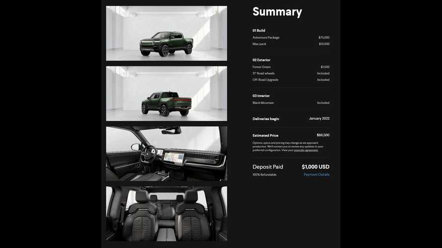 Rivian Configurator Shows Kitchen And Top Battery Pack Prices