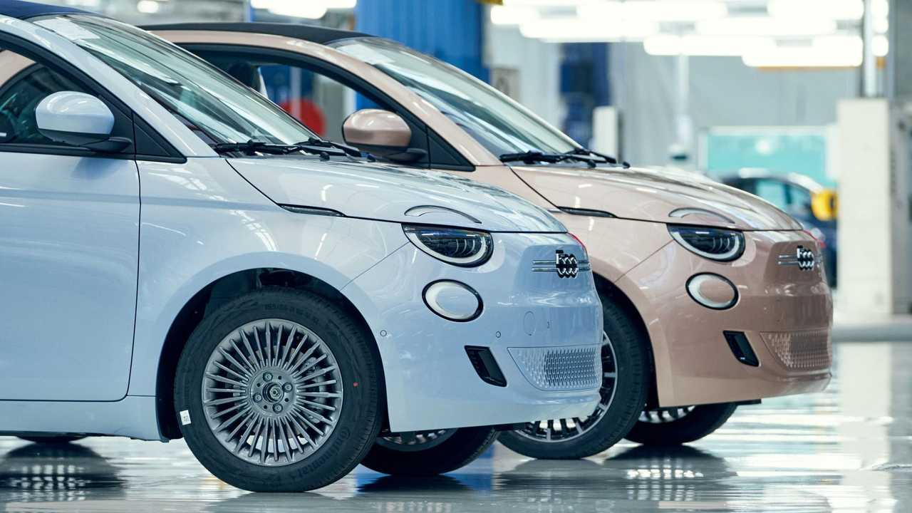 Fiat 500 elétrico - linha de produção - concluído