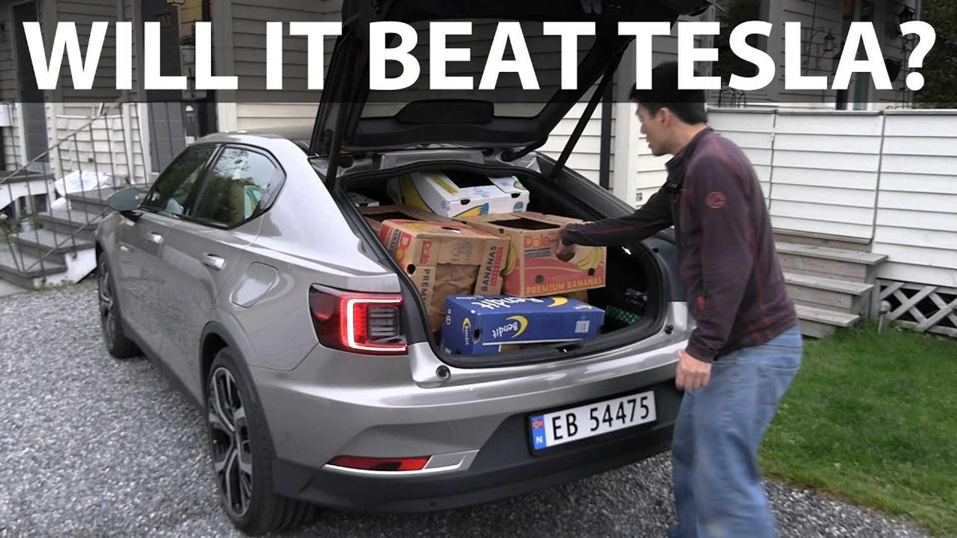 Polestar 2 Beats Tesla Model 3 In Banana Box Test