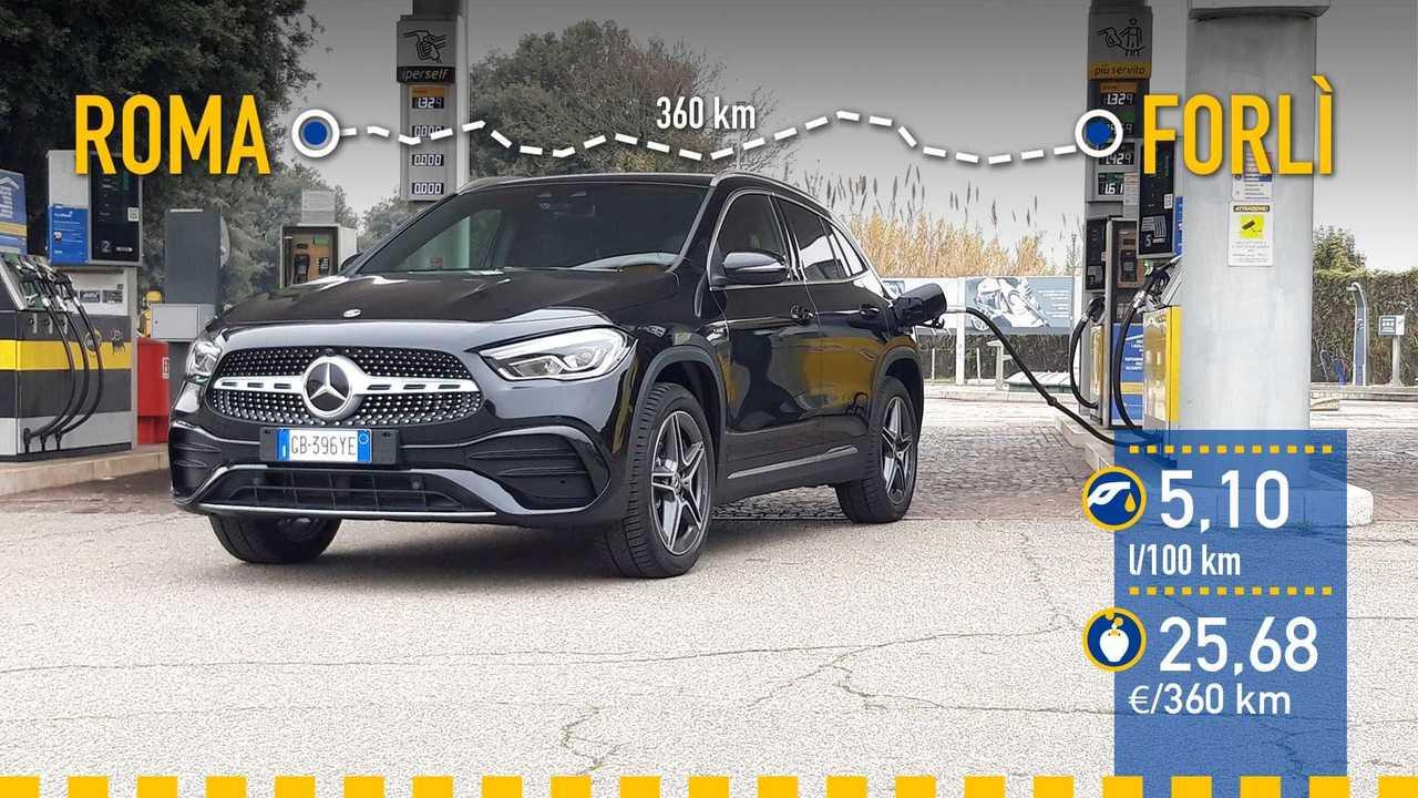 Mercedes-Benz GLA 250 e EQ POWER prueba consumo