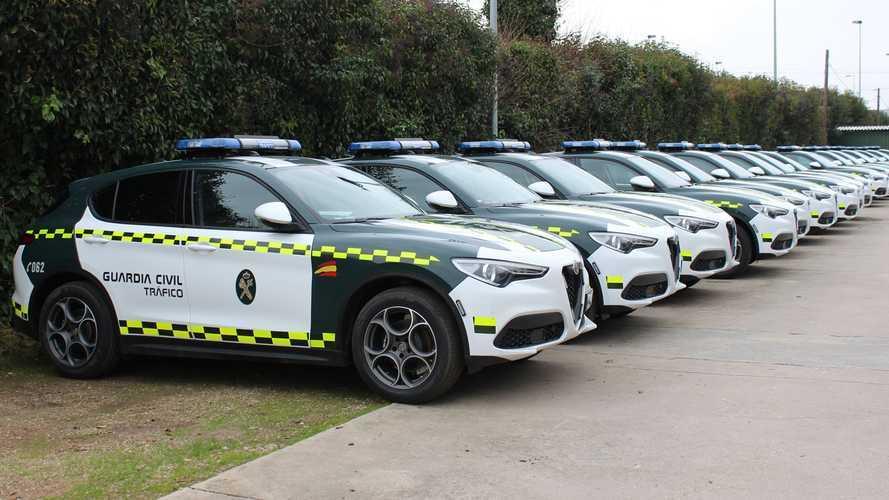 La Guardia Civil de Tráfico añade más Alfa Romeo Stelvio a su flota