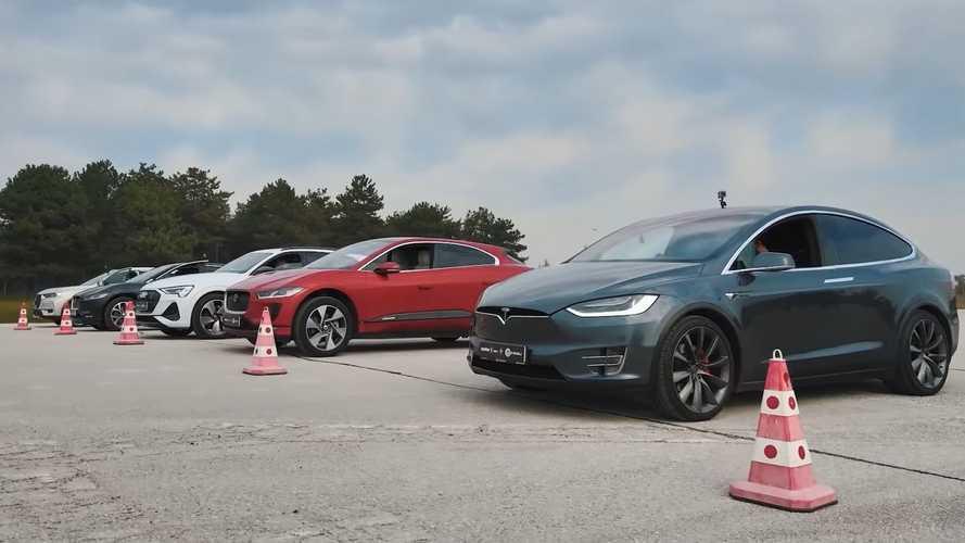 VIDÉO - Course entre Tesla Model X, Jaguar I-Pace et Audi e-tron