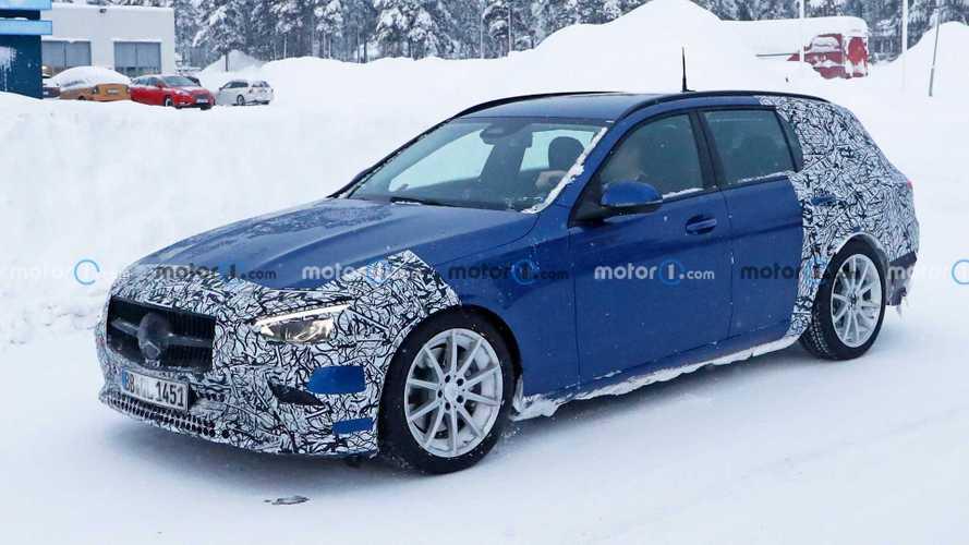 Новый универсал Mercedes-Benz C-класса снял часть камуфляжа (25 фото)