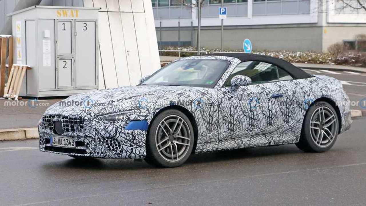 2021 Mercedes-Benz SL Yeni Casus Fotoğraflar