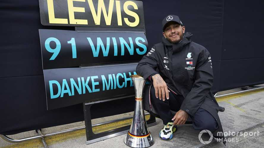Hamilton wants memory of matching Schumacher to 'stick'