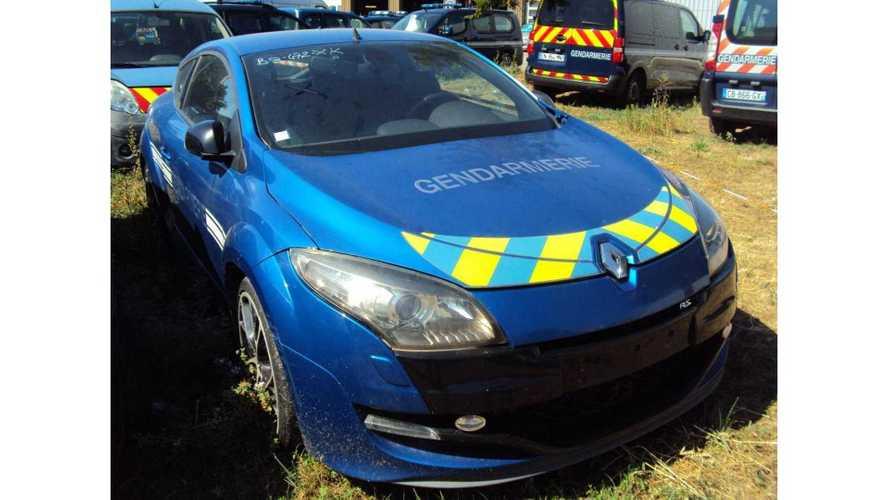 La Renault Mégane 3 RS des gendarmes est à vendre aux enchères !