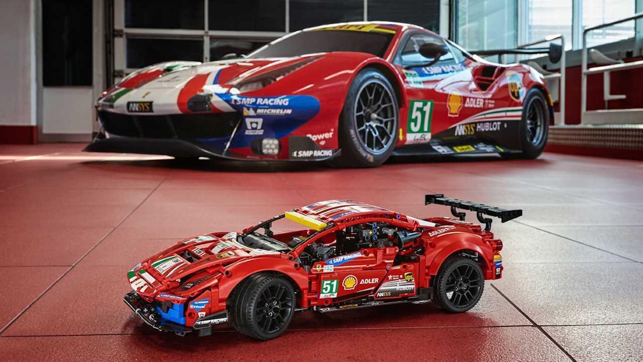 Ferrari 488 Gte Gets 1 677 Piece Lego Technic Treatment