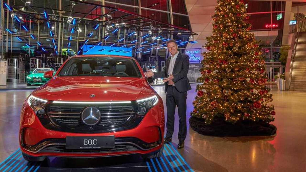 Mercedes EQC displayed at BMW Welt