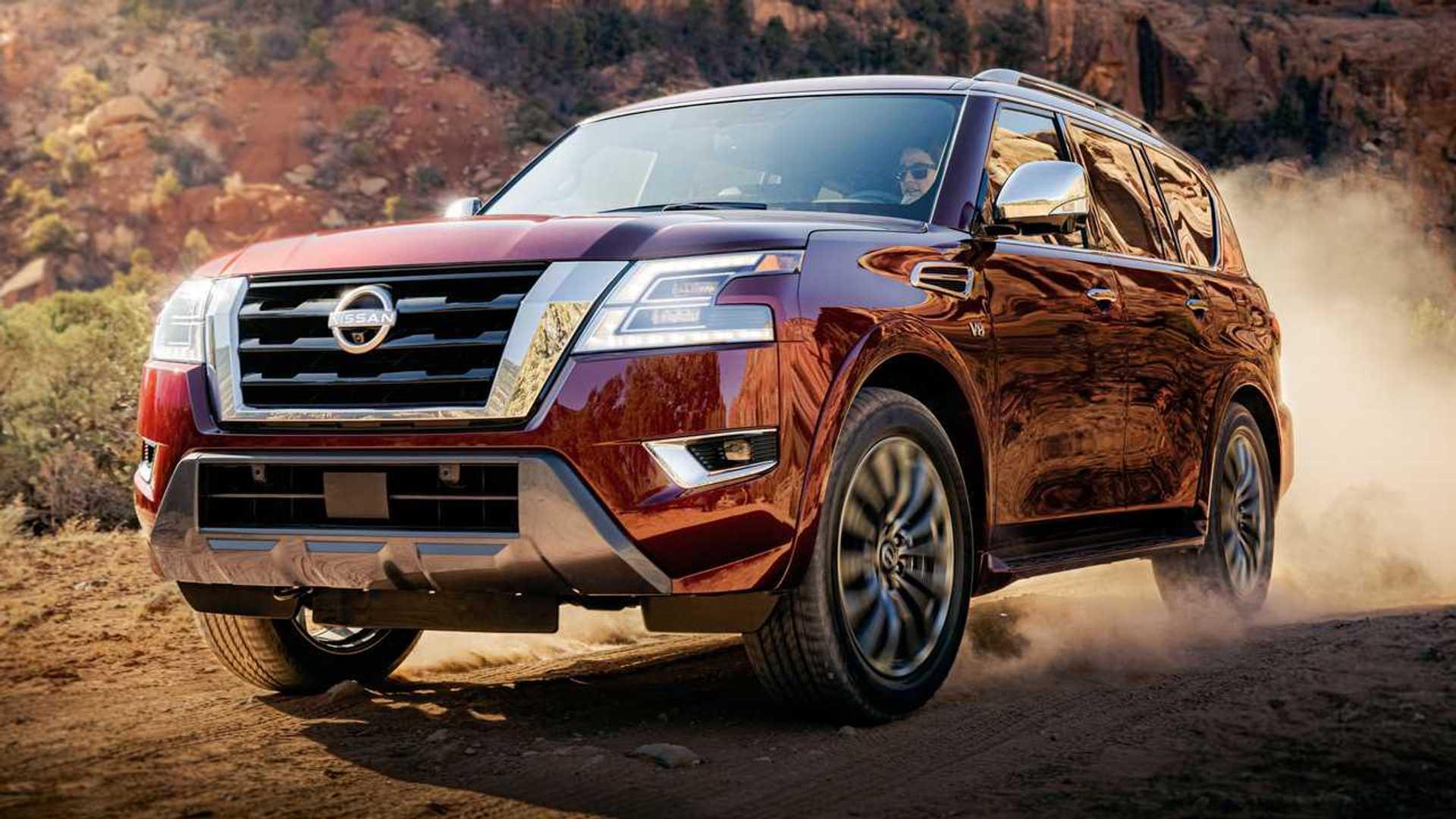 Nissan Armada 2021 года дебютирует с новым лицом, много технических обновлений