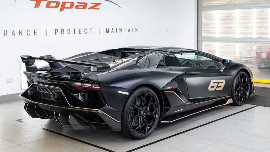 Lamborghini Aventador SVJ 63 Roadster getting PPF in London is a must-see
