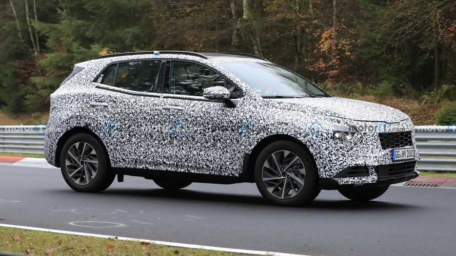 2022 Kia Sportage spied getting a workout at the Nurburgring