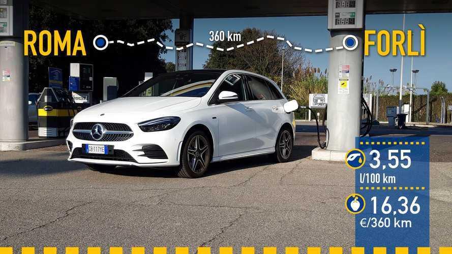 Mercedes-Benz B 250 e 2020: prueba de consumo real