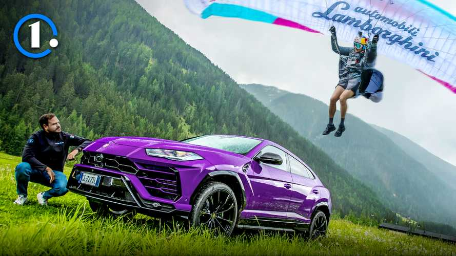 Lamborghini Urus vs parapendio: sfida impossibile sulle Dolomiti