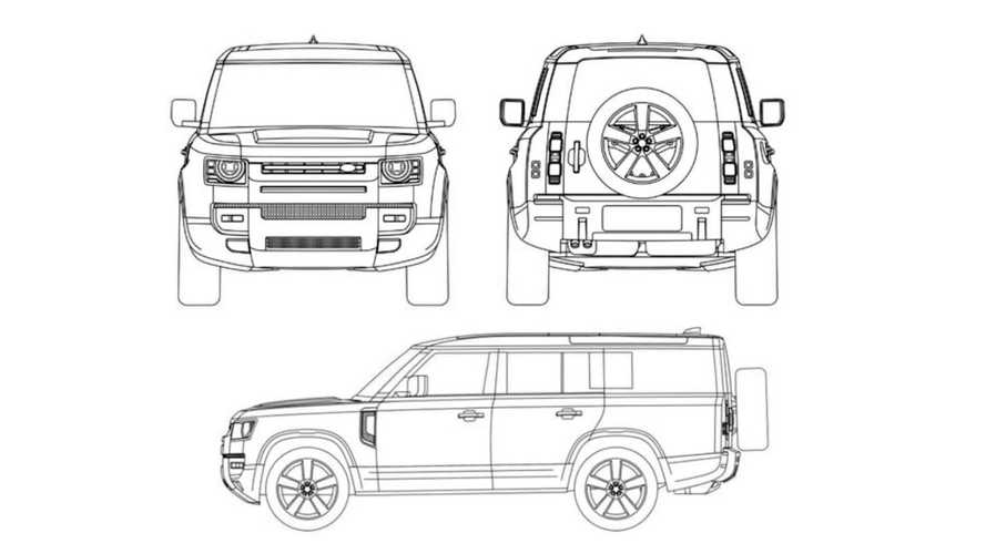 2023 Land Rover Defender 130 patent images