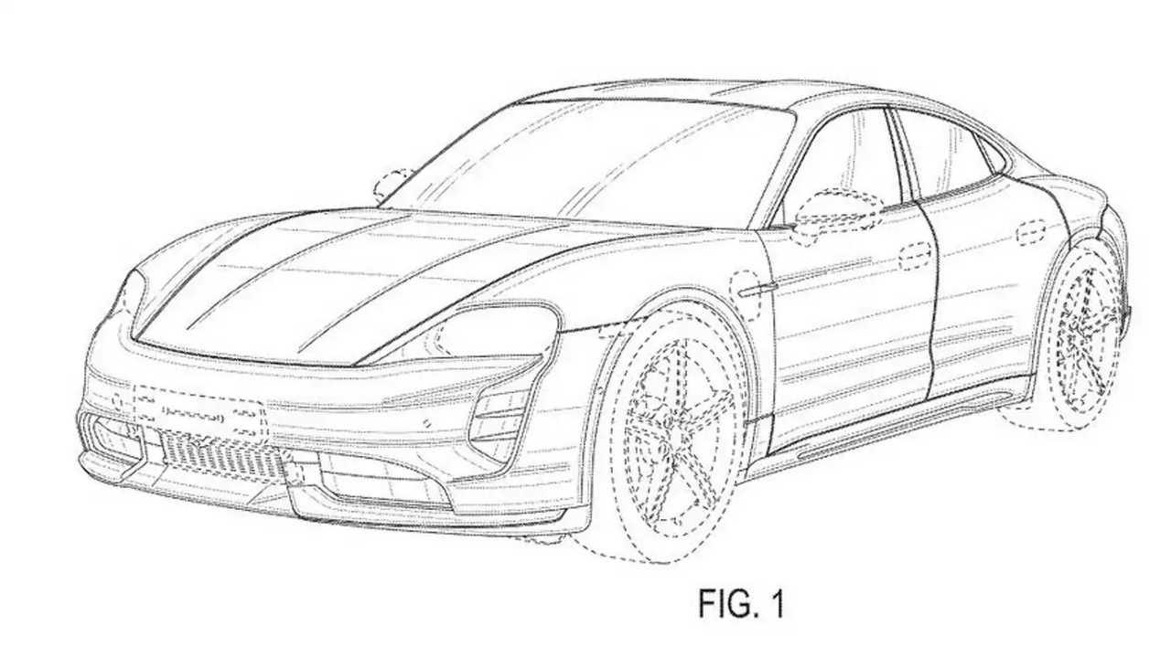Porsche Taycan Cross sedan patent