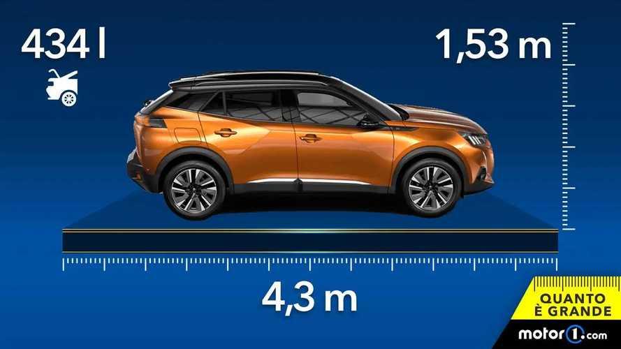 Peugeot 2008, dimensioni e capienza del SUV piccolo francese