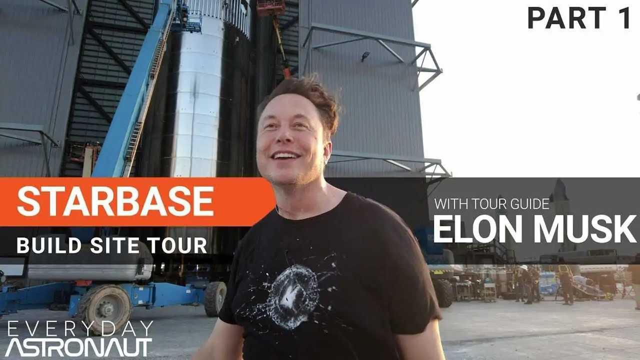 tesla elon musk spacex tour interview