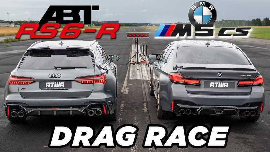 ABT modifiyeli Audi RS6-R, BMW M5 CS ile kozlarını paylaşıyor