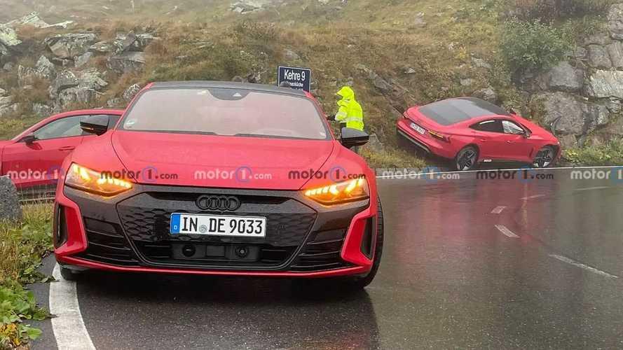 Audi RS E-Tron GT Crashed On Alpine Road