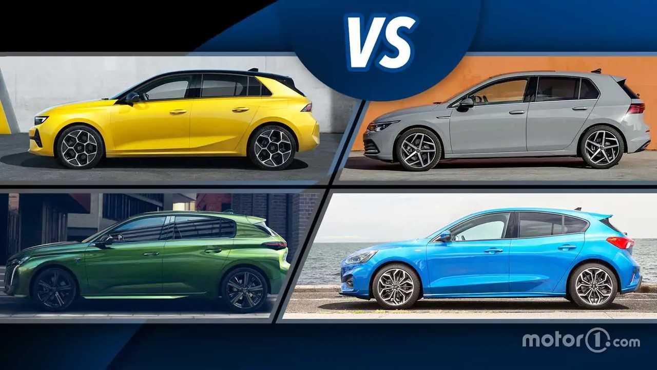 Nuova Opel Astra vs Volkswagen Golf, Peugeot 308 e Ford Focus