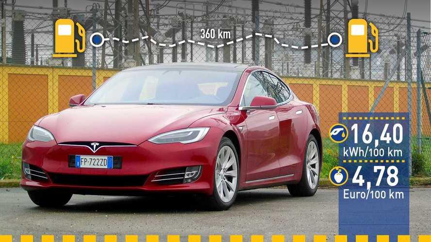 Tatsächlicher Verbrauch: Tesla Model S 100D im Test