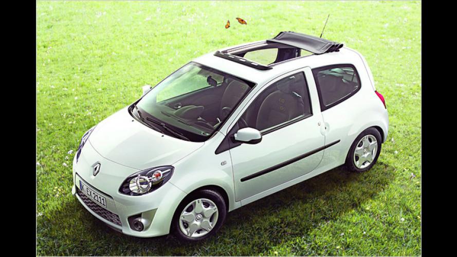 Sonnengenuss pur: Renault Twingo als Frischluft-Variante