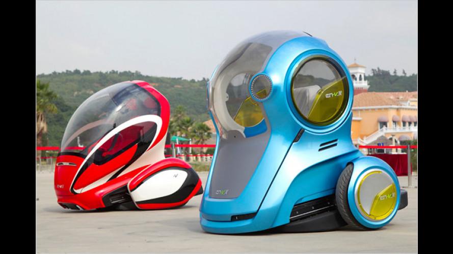 Chevrolet EN-V Concept: Eine Probefahrt auf zwei Rädern