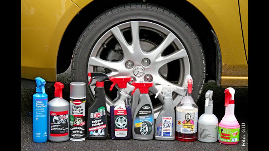 Zehn Felgenreiniger im Test von GTÜ und ACE (2009): Pflege fürs Auto-Schuhwerk